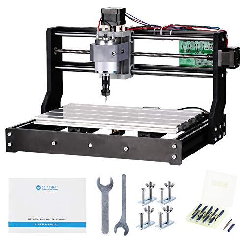 Genmitsu CNC 3018-PRO Router Kit GRBL Control 3 Axis Plastic Acrylic PCB PVC Wood Carving Milling Engraving Machine, XYZ Working Area 300x180x45mm by Genmitsu (Image #5)