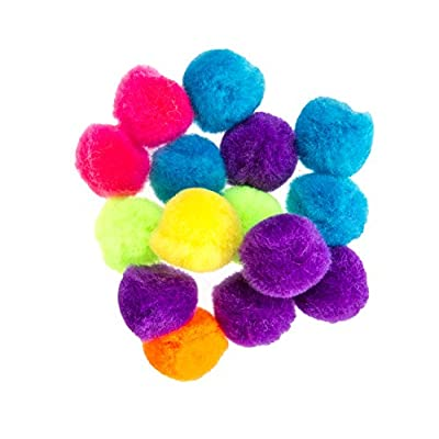 Creative Hands Poms Assorted Sizes, Neon, 100 Pieces: Arts, Crafts & Sewing