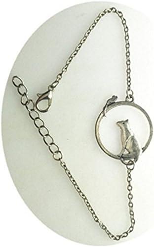 Pulsera de gato y ratón, Animal pulsera de plata, gato joyería ...