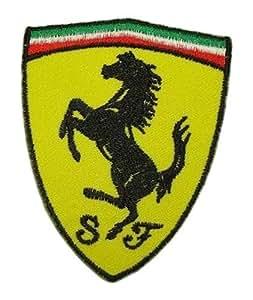 FERRARI F1 Scuderia Spyder motores superdeportivo Racing T-camiseta escudo y Logo bordado parche para coser en la plancha o de Wonder luna llena