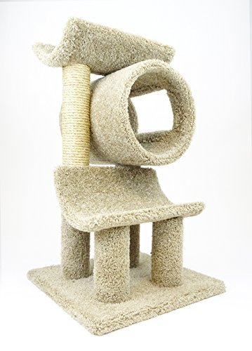 New Cat Condos 120003-Beige Play Gym Cat Tree
