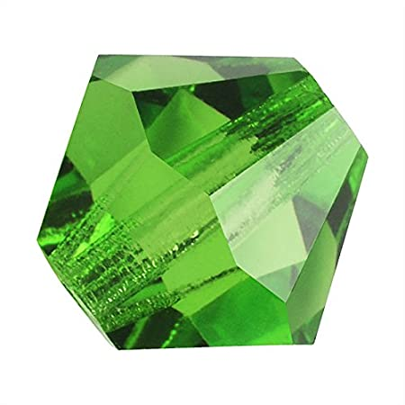 Preciosa 100 4mm Peridot Green AB Faceted Czech Glass Fire Polished Beads