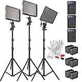 50 inc sony tv slim - Aputure Amaran AL-528KIT(AL-528S + AL-528W2) 528 Led Video Light Panel Studio LED Lighting Kit with Light Stand, Sony NP-F960 Battery Pack and Pergear Clean Kit