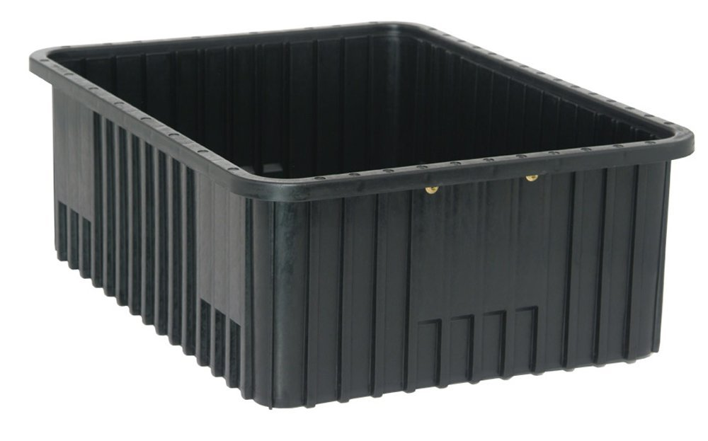 Quantum Storage Systems DG93080CO Dividable Grid Container 22-1/2-Inch Long by 17-1/2-Inch Wide by 8-Inch High, Black Conductive, 3-Pack
