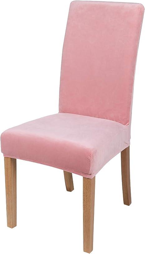Smiry Velvet Stretch Dining Room Chair Covers Soft Removable Washable Dining Room Chair Covers Amazon De Kuche Haushalt
