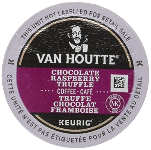 Truffle Flavored Coffee - Van Houtte Chocolate Raspberry Truffle Coffee, Light Roast, K-Cup Portion Pack for Keurig K-Cup Brewers 24-Count  (Pack of 2)
