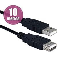 Cabo Extensor USB 10 Metros (Macho x Fêmea) com Filtro Exbom CBX-U2AMAF100