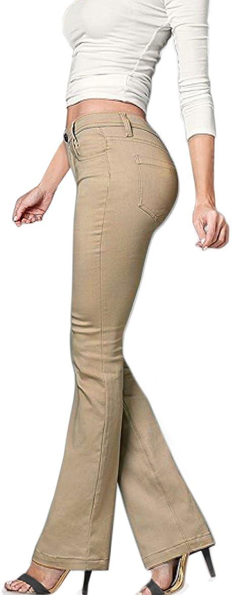 Hybrid & Company Women's Slim Boot Cut Stretch Pants