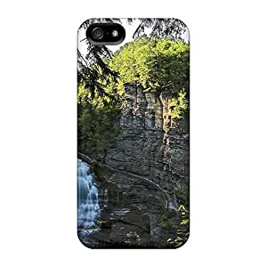 High Quality Shock Absorbing Case For Iphone 5/5s-stunning Cliffside Falls