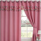 Tony's Textiles Childrens Kids Funny Cute Blackout 2 Curtain Panels Grommet Top Owls Pink 66″ Wide x 54″ Drop