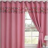 Tony's Textiles Childrens Kids Funny Cute Blackout 2 Curtain Panels Grommet Top Owls Pink 90″ Wide x 54″ Drop For Sale