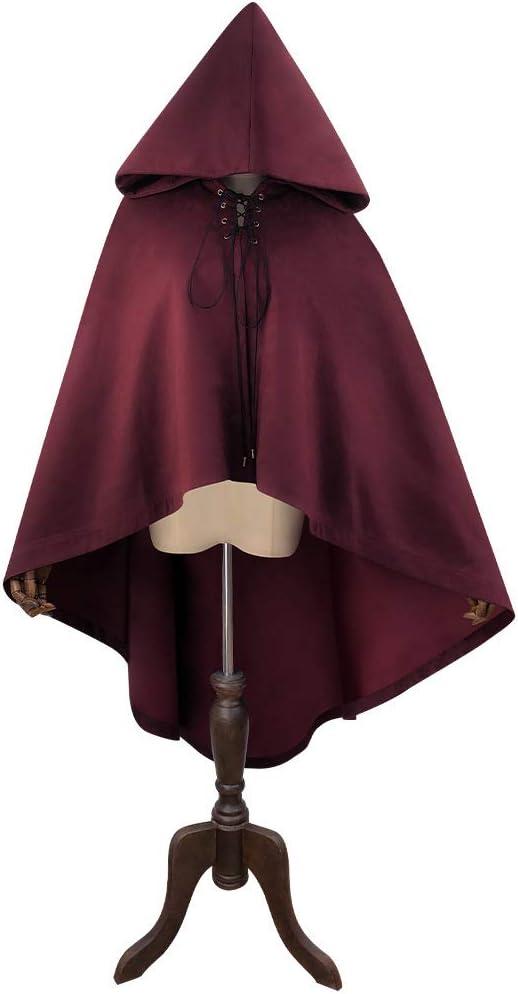 Steampunk - Capa con capucha de ante sintético para disfraz de ...
