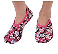 Snoozies Conversationals Women's Lightweight Skinnies Footcovering Slippers