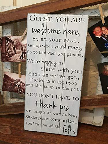 qidushop Cartel de Madera Vintage con Texto en inglés ...