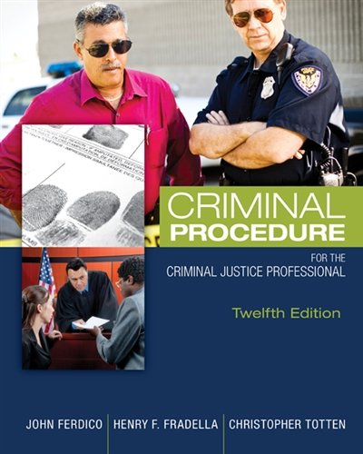 Criminal Procedure for the Criminal Justice Professional cover