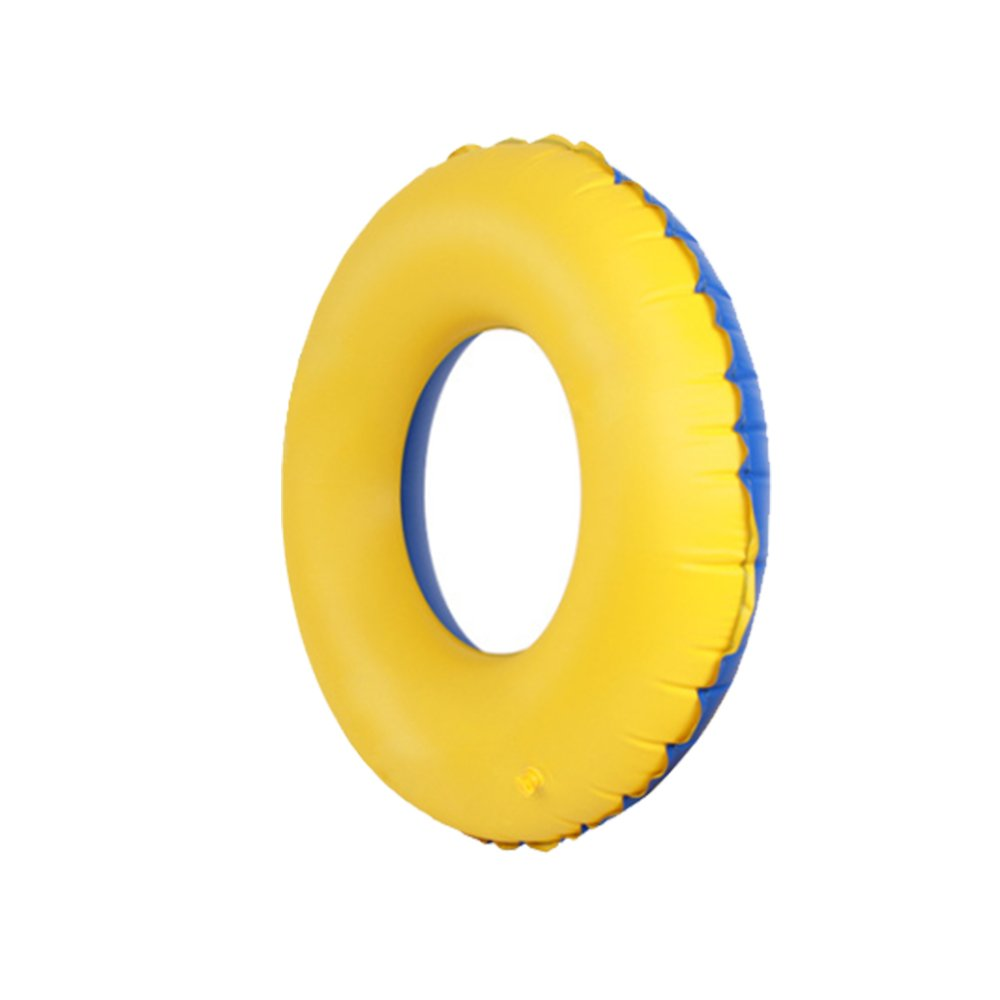 S LUCKSTAR Swim Ring PVC Thickened Floating Swimming Ring Inflatable Ring Swim Tube Summer Fun Swim Trainer for Kids /& Adults