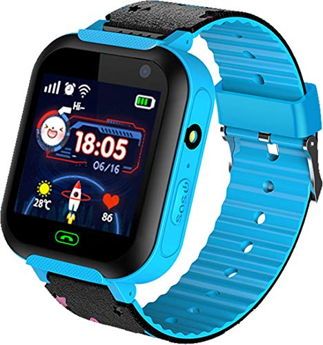 - Wowpower Smart Watch with SIM Card-Kids GPS Tracker Smart Watch Phone for Boys Girls with Touch Screen Camera SOS Anti-Lost Game Alarm Clock Wrist Digital Watch Birthday Gifts