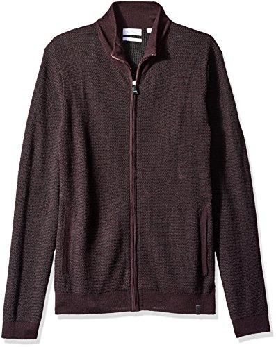 [해외]Calvin Klein 남자의 가득 차있는 우편 Merino Plaited 스웨터/Calvin Klein Men`s Full Zip Merino Plaited Sweater