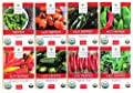 Sweet Yards Seed Co Hot Pepper Organic Seed Variety Pack - 8 Unique Packets of Non-GMO USDA Certified Organic Pure Seeds