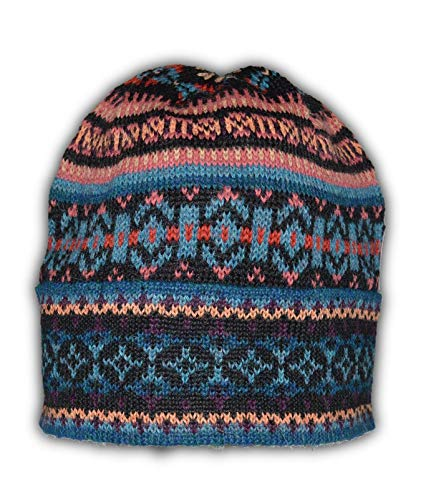 Invisible World Women's 100% Alpaca Wool Hat Knit Unisex Beanie Winter Isa Lg