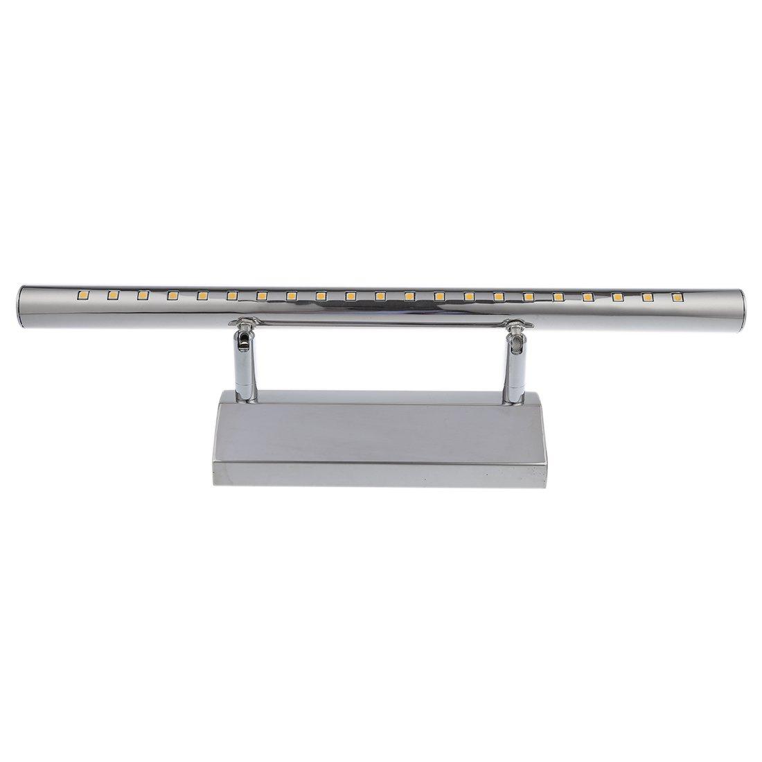 TOOGOO(R) Blanc Chaud LED 5W 21 SMD 5050 Miroir Feu Avant Salle de Bain Mur Acier inoxydable