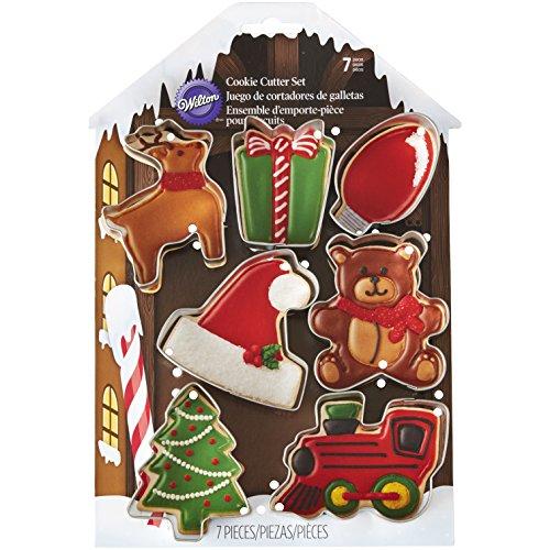 Wilton 7-Piece Christmas Cookie Cutter (Santa Cookie Cutter)