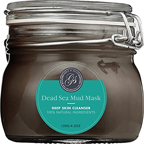 BEST Rated Dead Sea Mud Mask – Purify Toxins & Impurities from Congested, Acne Skin (200g / 7 fl. oz.) INCLUDES Sanitary Spatula – Minimize Appearance of Pores, Blemishes & - Best Clay Mask