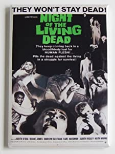 Night of the Living Dead Movie Poster Fridge Magnet (2 x 3 inches) by Blue Crab Magnets