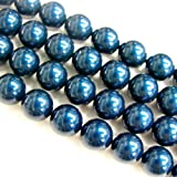 50 pcs Swarovski 5810 Round Crystal Pearls Petrol 8mm / Findings / Crystallized Element