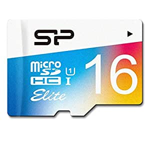 Silicon Power 16GB MicroSDHC UHS-1 Class10, Elite Flash Memory Card with Adapter (SP016GBSTHBU1V20SP)