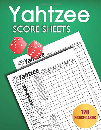 Yahtzee Score Sheets: Large size 8.5 x 11 inches 120 Pages | Dice Board Game |Yahtzee Score Pads | Yatzee Score Cards | Yahtzee score book: Amazon.es: Yatzee Score pad: Libros en idiomas extranjeros