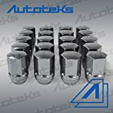20 Pc 9/16'' Chrome OEM Style Factory Lug Nuts | Works with 2002-2011 Dodge Ram 1500 Dakota & Durango Factory Wheels