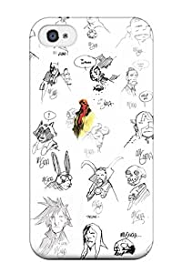 New Style SaundraVillard Hard Case Cover For Iphone 4/4s- Sketches