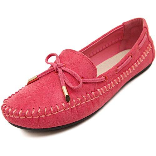 Scarpe Scarpe Primavera on Donna Libero Autunno Tempo Rosso Slip da Estate Ballerine Singole Barca katliu per Mocassini Casual APdq5WAn