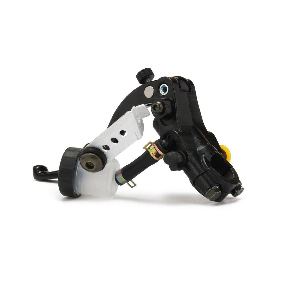 JFG RACING universale CNC sinistra frizione leva idraulica cilindro serbatoio per moto 7/20,3 cm, 22 mm 125 –  400 CC sport moto scooter 3cm 22mm 125-400CC sport moto scooter