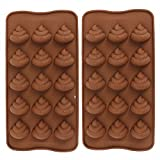 poop soap bars - Emoji Poop Silicone Mold - Comkit 15-Cavity Cute Funny Emoji Poop Emotion Baking Maker Molds Tray for Cake Decorations, Chocolate/Candy/Fondant/Gummy/Ice Cube Making