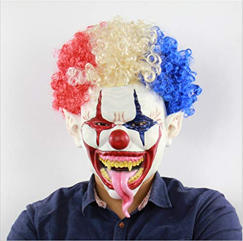 Waltz&F Halloween Clown Terrorist Masks Creepy Scary Funny Clown Latex Mask for Costume Party Cosplay -