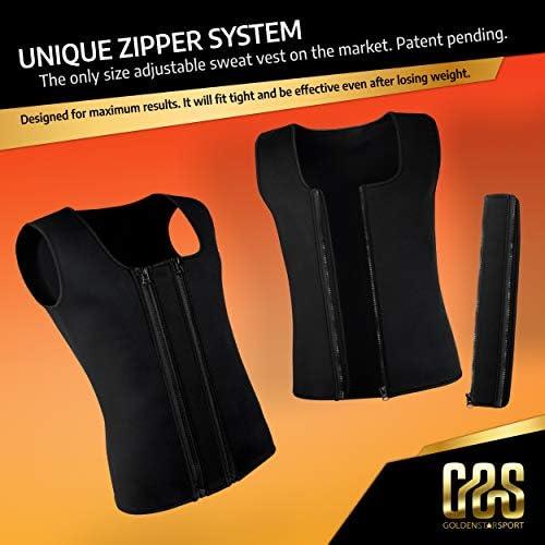 Goldenstarsport Sweat Vest for Men, Adjustable Sauna Vest for Men with Double Zipper, Workout Vest for Men, Mens Sauna Waist Trainer, Neoprene Vest Men 2