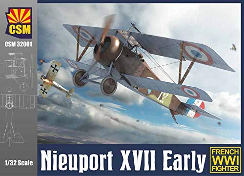 (CSM32001 1:32 Copper State Models Nieuport XVII Early French WW1 Fighter [Model Building KIT] )