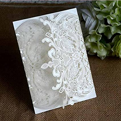Amazon Com Lace Royal Design Wedding Invitation Cards 50pcs
