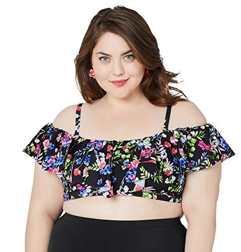 (Avenue Women's Shannon Floral Bikini Top, 30 Multi Color)
