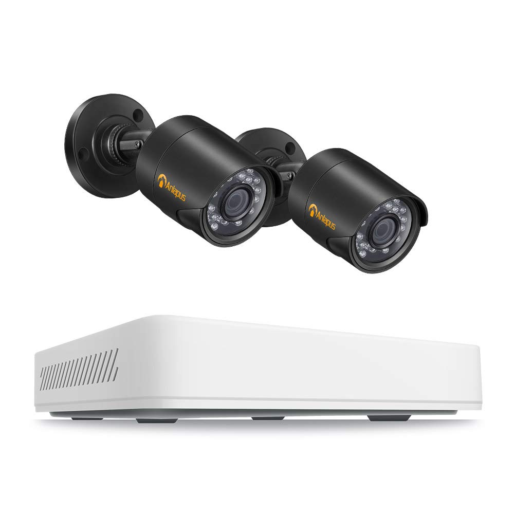 Anlapus 8CH Full HD 720P HD-TVI Security Camera System, Surveillance DVR Recorder and (2) 1.0MP 1280TVL Waterproof Outdoor Indoor CCTV Bullet Camera with Night Vision(No Hard Drive) by Anlapus