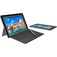 Microsoft U3P-00001 Surface Pro 4 128GB Bundle Surface Pen (Silver), Type Cover