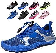 Yiyifash Kids Water Shoes Boys Girls Quick Dry Aqua Socks Barefoot Beach Swim Shoes for Pool Surfing Summer Ou