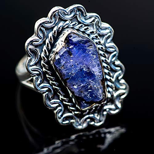 Ana Silver Co Rough Tanzanite Ring Size 9.25 (925 Sterling Silver) - Handmade Jewelry, Bohemian, Vintage RING972660 (Ana Silver Tanzanite Rings)