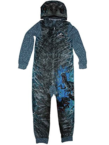 AME Jurassic World Blue Raptor Fleece Hooded Union Suit Boys Pajamas 4-16 (XL (14/16))]()