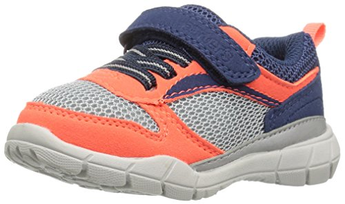 carter's Web  Athletic Sneaker, Orange/Grey, 10 M US Toddler