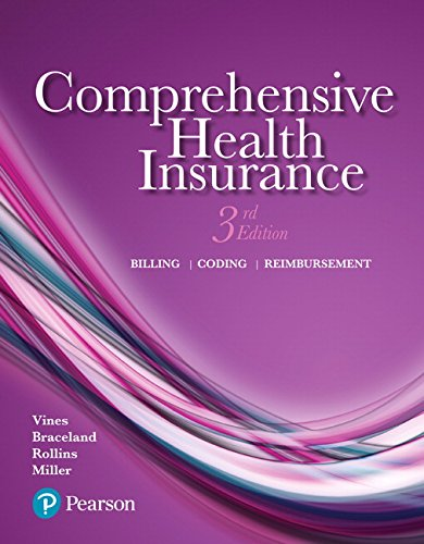 Comprehensive Health Insurance: Billing, Coding, and Reimbursement (3rd - Reimbursement Insurance
