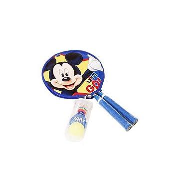Mickey Mouse - Raqueta de bádminton Profesional para niños + ...