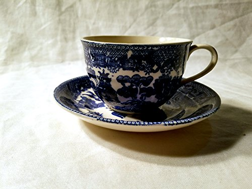 Blue Willow Cup and Saucer ()
